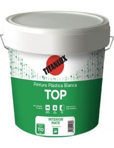 Pintura plastica blanca top mate interior/exterior 20kg de titan