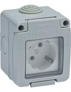 Base 19071 doble ttl estanco ip55 16a-250v de famatel caja de 9