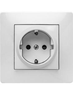 Base tt lateral 9123 empotrar 16a-250v de famatel caja de 10