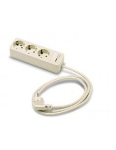 Base 2623 3 tomas tt con interruptor + 1,5m 16a-250 de famatel