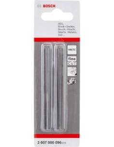 Cuchilla reversible recta para cepillo 2pz de bosch