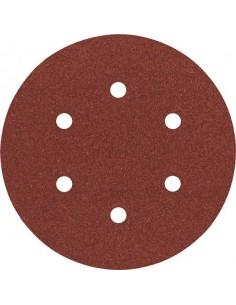 Lija disco 6 perforaciones con velcro 150mm g120 bl5 de bosch
