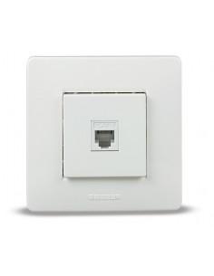 Base 9037 empotrar telefono blanco rj11 6p4c de famatel caja de