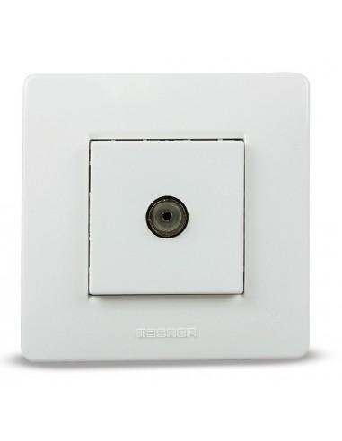 Base 9035 empotrar tv blanco 9,5mm de famatel caja de 8 unidades