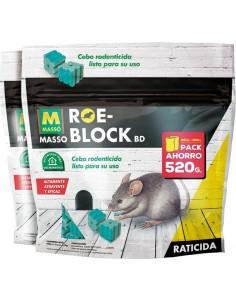 Raticida roe-block 231535 2x1 260g + 260g de roe