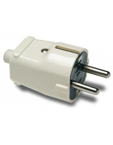Clavija 1101 4,8mm tt ik07 blanco 16a/250v de famatel caja de