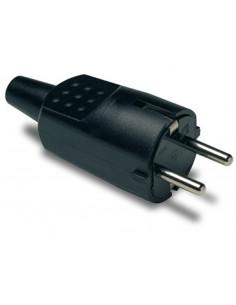 Clavija 1104 4,8mm ttl negro 16a/250v de famatel caja de 40