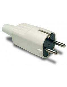 Clavija 1104b 4,8mm ttl goma blanco 16a/250 de famatel caja de