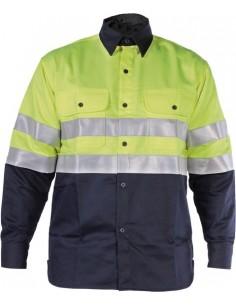 Camisa ignifuga welder hv wlh100 t-s azul de 3l
