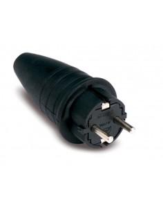 Clavija 1144 ttl goma negro ip44 16a/250 de famatel caja de 25