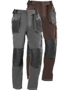 Pantalon flex 191 t-s marron/negro de juba
