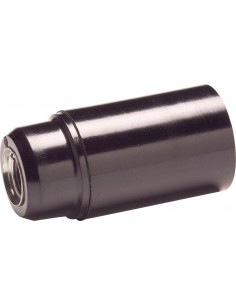 Portalampara 461 liso e14 negro 2a-250v de famatel caja de 60