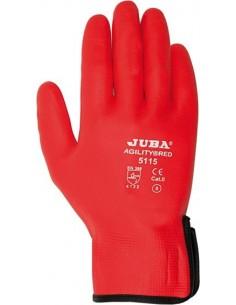 Guante nylon/nitrilo foam h5115 t-07 rojo de juba caja de 10