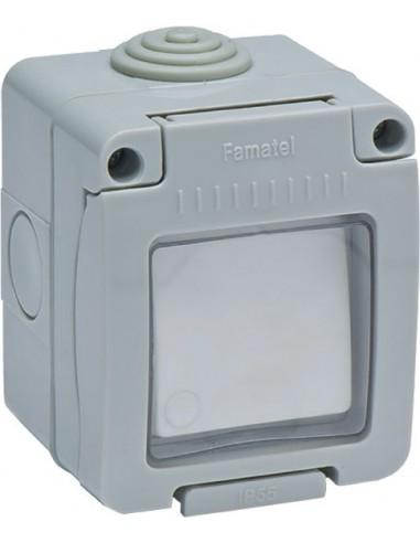 Interruptor 19038 timbre estanco 10a-250v de famatel caja de 8