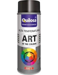 Spray pintura anticalorico plata 690º 400ml de quilosa caja de