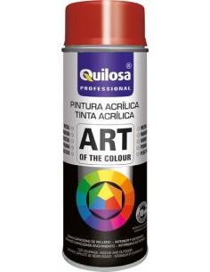 Spray pintura rojo vivo ral3000 400ml de quilosa caja de 6