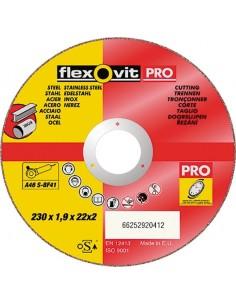 Disco flexovit inoxidable a46sbf41 230x1,9x22 de flexovit caja