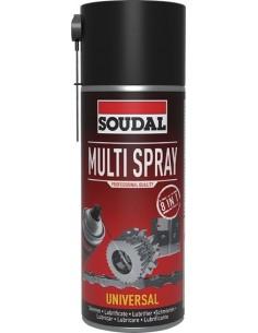 Spray aceite lubricante 8 en 1 119707 400ml de soudal caja de 6