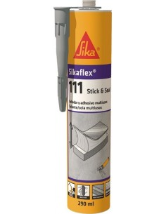 Sikaflex 111 stick&seal 290ml gris de sika caja de 12 unidades