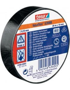 Cinta aislante 53988-25mx25mm negra de tesa-tape caja de 10