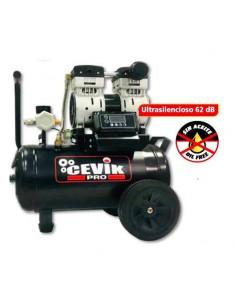 Compresor silencioso pro24silentx 24l 1,5hp de cevik