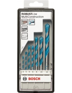 Juego de brocas hormigon robustline cyl9 7 unidades de bosch