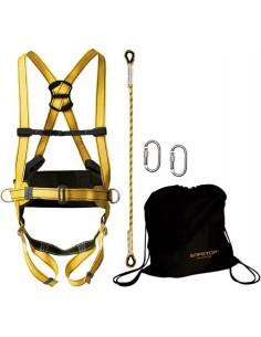 Arnes 80706/069b elbrus+cuerda+mosqueton+bolsa de safetop