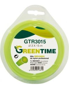Hilo nylon redondo gtr1615 1,6mmx15m de green time