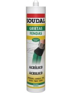 Masilla acrilica grietas 300ml-115790bco de soudal caja de 12