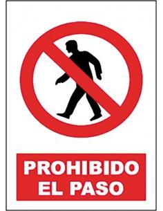 Señal prohibido paso sp897 40x30 de jg señalizacion