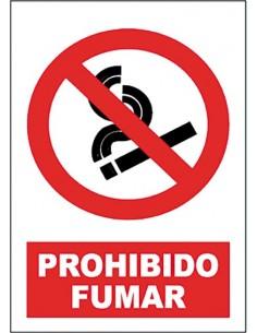 Señal prohibido fumar sp850 40x30 de jg señalizacion