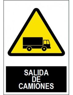 Señal salida camiones sa1041 40x30 de jg señalizacion