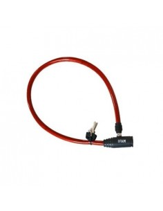 Candado bici 300r50 cable junior rojo de ifam