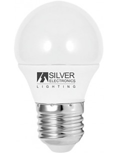 Lámpara eco esférica 1961 led e27 5w 6000k de silver sanz caja