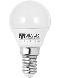 Lámpara eco esférica 1961 led e14 5w 6000k de silver sanz caja