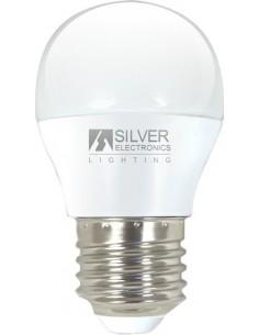 Lámpara esférica 960227 led e27 5w 3000k de silver sanz caja de