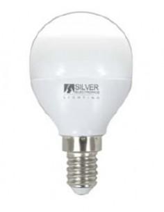 Lámpara esférica 961214 led e14 5w 5000k de silver sanz caja de