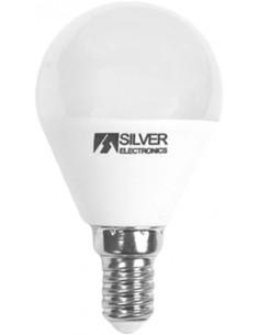 Lámpara esférica 960714 led e14 7,0w 3000k de silver sanz caja