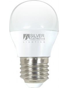 Lámpara esférica 961227 led e27 5w 5000k de silver sanz caja de