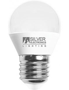 Lámpara esférica 960727 led e27 7,0w 3000k de silver sanz caja