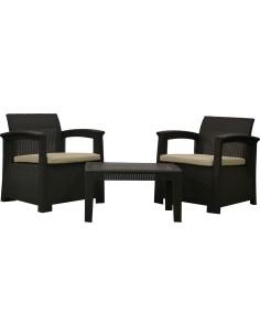 Conjunto perugia resina 2 sofas+mesa kch401 de chillvert