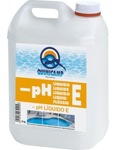 Reductor ph liquido e piscina 6kg 205806 de quimicamp caja de 4