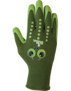 Guante nylon niños h253 talla 8y verde de juba caja de 12