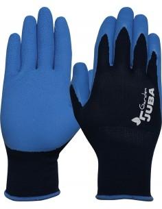 Guante nylon/latex h255 talla 06 azul de juba caja de 10
