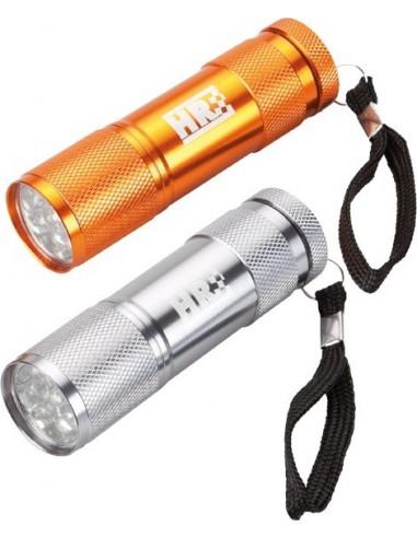 Linterna tubular aluminio 170955 9 led de hr caja de 12 unidades