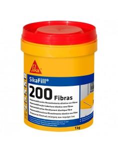 Revestimiento sikafill-200 fibras 01kg rojo teja de sika