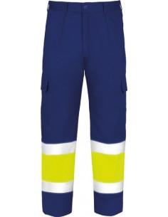 Pantalon alta visibilidad 3023af/am amarillo/marino talla 40 de