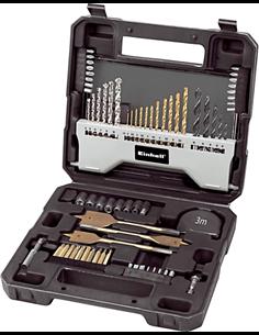 Maletín de brocas y puntas de atornillar set de 70 piezas de einhell