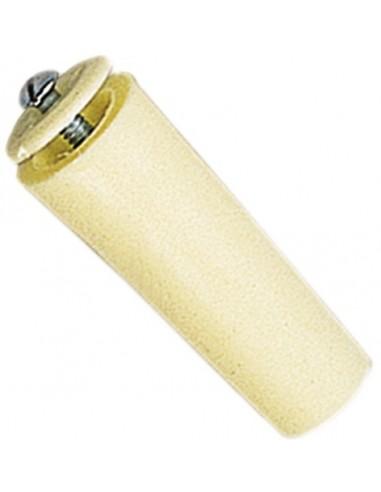 Tope 40mm con tornillo 06020002 blanco de gaviota simbac caja