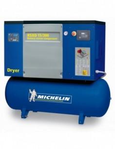 Compresor de tornillo encapsulado con caldera y secador